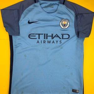 Manchester City Soccer Jersey Nike Medium Futbol
